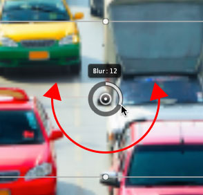 Increasing the Blur amount for the Tilt-Shift filter to 12px.